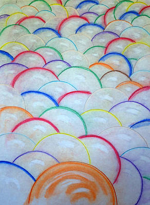 Drawing - Water Balloons by J R Seymour