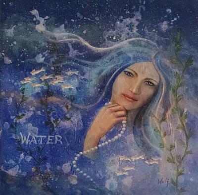 Mixed Media - Water by Bernadette Wulf
