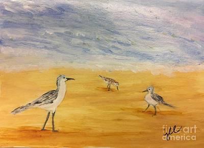 Killdeer Painting - Water Birds by Jessie Lofland