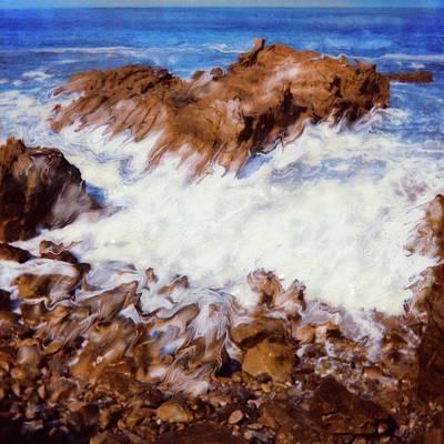 Water Break Art Print by Paul Tokarski
