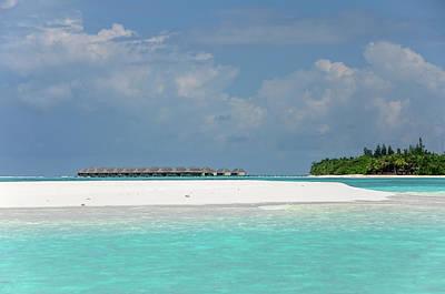 Photograph - Water Bungalows Of Maldivian Resort by Jenny Rainbow