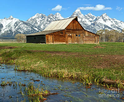 Water By The Barn Art Print by Adam Jewell