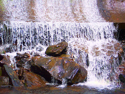 Print featuring the photograph Water Cascade by Roberta Byram