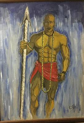 3e9ea941d9a Wall Art - Drawing - Water Color Warrior by Clyde Taylor