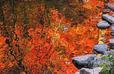 Photograph - Water Colors In Autumn by Charline Xia