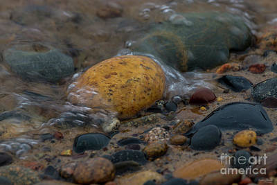 Photograph - Water Covered Pebbles by Jennifer White
