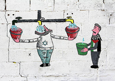 Photograph - Water Crisis by Munir Alawi