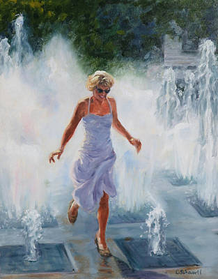 Painting - Water Dance by Connie Schaertl