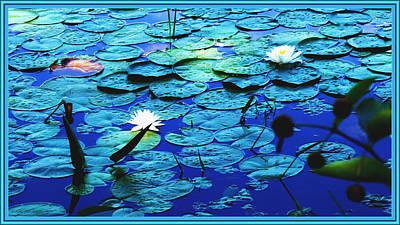 Framed Digital Art Mixed Media - Water Dancers by Debra Lynch