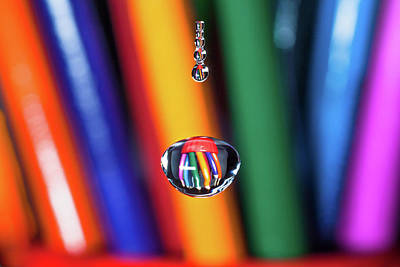 Water Drop Pencils Art Print