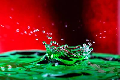 Photograph - Water Drop Splashing by Paul Ge