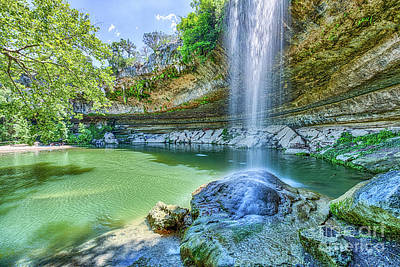 Hamilton Pool Photograph - Water Fall At Hamilton Pool by Tod and Cynthia Grubbs