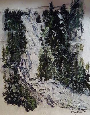 Painting - Water Fall by Crystal Schaan