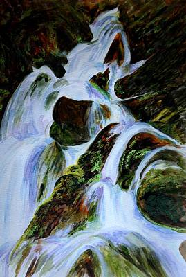 Realistic Painting - Energy Of Water  by Harsh Malik