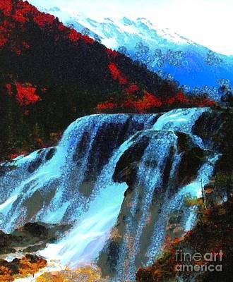 Water Fall In Asgelmint Art Print by Catherine Lott