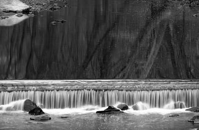 Photograph - Water Fall In Black And White by Dorin Adrian Berbier