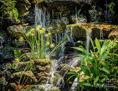 Photograph - Water Falls 1 by Les Greenwood