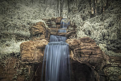 Photograph - Water Falls In Infrared At The John Ball Park Zoo by Randall Nyhof