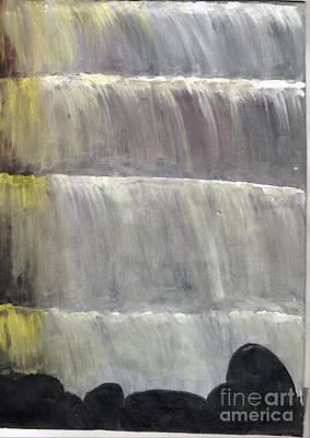 Falls Drawing - Water Falls by Karthikeyan Balasubramanian