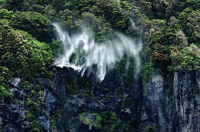 Photograph - Water Falls Up by Bob VonDrachek