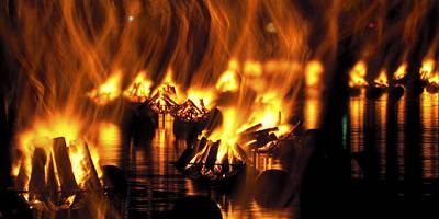 Photograph - Water Fire by Ryan Heffron