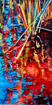 Painting - Water Fireworks II by Trish McKinney