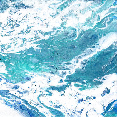 Painting - Water Flow Acrylic by Patricia Cleasby