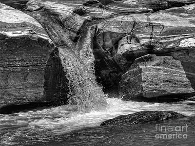 Tucson Photograph -  Water Flowing Through Rock Formation In Sabino Canyon by Rincon Road Photography By Ben Petersen