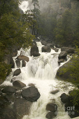 Photograph - Water Flows Down A Cascade by Inga Spence
