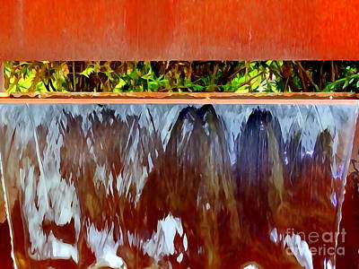Photograph - Water Fountain Abstract # 37 by Ed Weidman