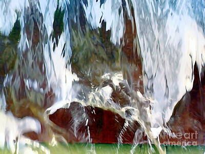 Photograph - Water Fountain Abstract #33 by Ed Weidman