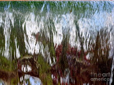 Photograph - Water Fountain Abstract #57 by Ed Weidman