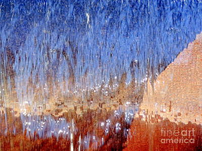 Photograph - Water Fountain Abstract #63 by Ed Weidman