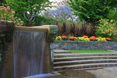 Photograph - Water Fountain At The North Carolina Arboretum by Jill Lang
