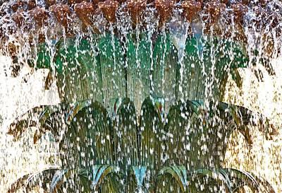 Water Fountain Bright Charleston Art Print by Lori Kesten