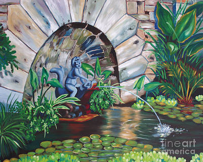Painting - Water Fountain by Milagros Palmieri