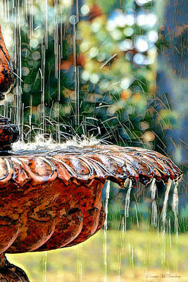 Digital Art - Water Fountain by Pennie McCracken