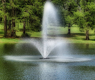 Photograph - Water Fountain by Sandy Keeton