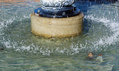 Photograph - Water Fountain Splash by Tikvah's Hope