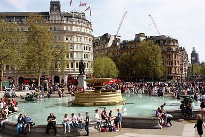 Photograph - Water Fountain In Trafalgar Square, London by Aidan Moran