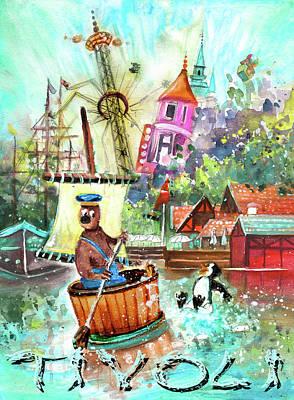 Painting - Water Fun At Tivoli Gardens by Miki De Goodaboom