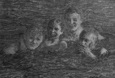 Drawing - Water Fun by Sami Tiainen