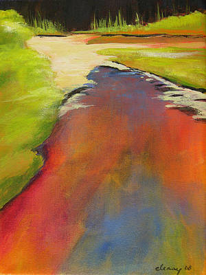 Painting - Water Garden Landscape 7 by Melody Cleary