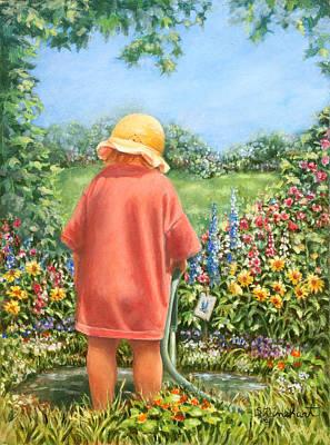 Water Garden Original by Susan Rinehart