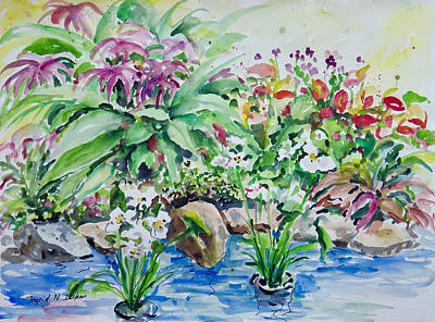 Painting - Water Garden by Ingrid Dohm
