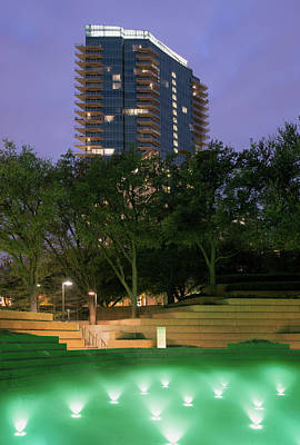 Photograph - Water Gardens Ft Worth Green 040918 by Rospotte Photography