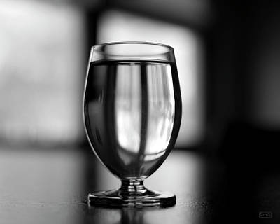 Photograph - Water Glass I Bw by David Gordon