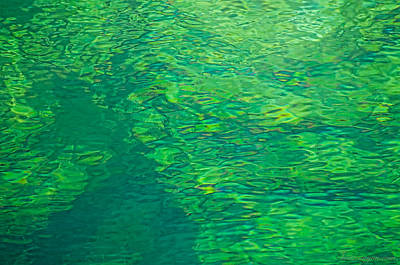 Water Green Art Print
