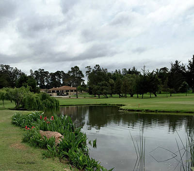 Sports Paintings - Water Hazard at Number Five Santa Maria Country Club 2 by Barbara Snyder