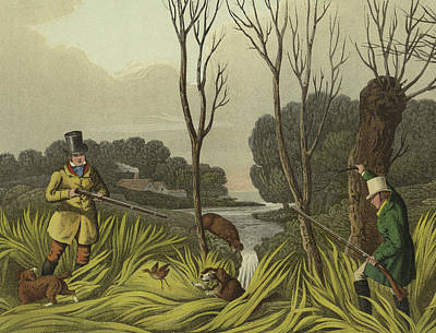 Aim Painting - Water Hen Shooting by Henry Thomas Alken